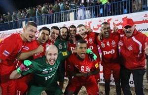 قهرمانی تیم لوکوموتیو مسکو در مسابقات فوتبال ساحلی اوراسیا