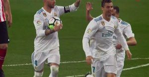 گل اول رئال مادرید به بیلبائو (کریستیانو رونالدو )