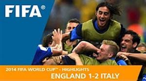 مرور جام جهانی 2014 - ( انگلیس 1 - ایتالیا 2 )