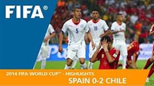 مرور جام جهانی 2014 - ( اسپانیا 0 - شیلی 2 )