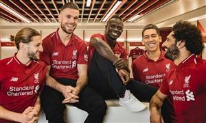 رونمایی کیت اول لیورپول برای فصل 2018/2019