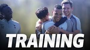 تمرین باشگاه تاتنهام برای نیمه نهایی جام حذفی
