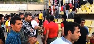استقبال گرم هواداران مسجد سلیمان ار قائم شهری ها