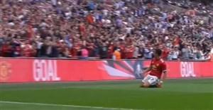 گل اول منچستر یونایتد به تاتنهام ( الکسیس سانچز)
