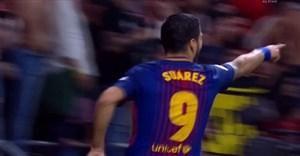 گل اول بارسلونا به سویا ( لوئیس سوارز )