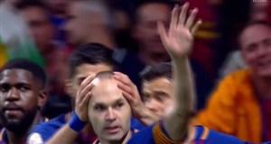 گل چهارم بارسلونا به سویا ( اینیستا )