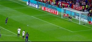 گل پنجم بارسلونا به سویا ( فیلیپ کوتینیو)