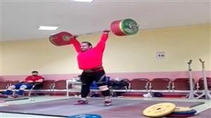 حرکت دو ضرب بهداد سلیمی در تمرینات و مهار وزنه 225 کیلوگرمی