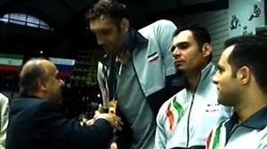 مراسم اهدای مدال طلا تیم ملی والیبال نشسته ایران (لیگ جهانی)