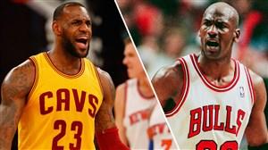 لبران جیمز یادآور مایکل جردن اسطوره بسکتبال دنیا