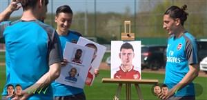 چالش تشخیص چهره های ترکیبی بازیکنان آرسنال
