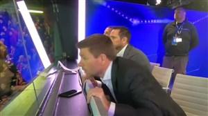 شادی و هیجان استیون جرارد از گلزنیهای صلاح مقابل رم