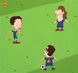 مسی تنها بازمانده نسل طلایی بارسلونا
