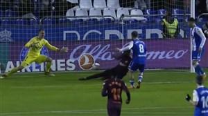 گل دوم دیپورتیوو لاکرونیا به بارسلونا (چولاک)