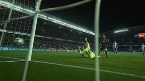 گل سوم بارسلونا به دیپورتیوو لاکرونیا (مسی)