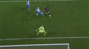 گل چهارم بارسلونا به دیپورتیوو لاکرونیا (مسی)