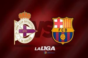 خلاصه بازی دیپورتیوو لاکرونیا 2 - بارسلونا 4 (هتریک مسی)