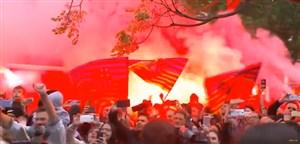 گزیدهای از جشن قهرمانی بارسلونا در داخل شهر