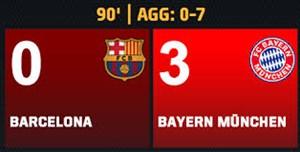 5 سال پیش در چنین روزی بارسلونا 0 - بایرن مونیخ 3