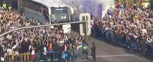 استقبال هواداران رئال مادرید از اتوبوس این باشگاه