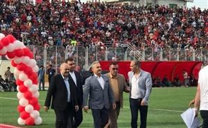 جشن صعود تیم نساجی مازندران با حضور هواداران