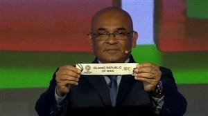 انتخاب قرعه ایران در جام ملت های آسیا 2019 توسط علی دایی