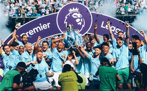 جشن اولین قهرمانی پپ در انگلیس