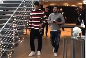 ورود بازیکنان بارسلونا به ورزشگاه نیوکمپ