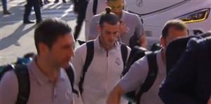 ورود بازیکنان رئال مادرید به ورزشگاه نیوکمپ