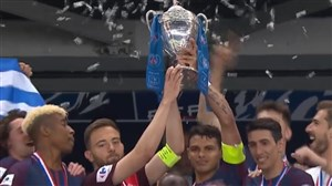 جشن قهرمانی پاریس سن ژرمن در جام حذفی فرانسه