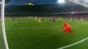گل اول ویارئال به بارسلونا (نیکولا سانسون)