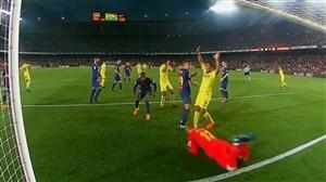 صحنه مشکوک به گل در بازی بارسلونا-ویارئال