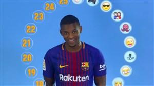 چالش انتخاب اموجی بازیکنان بارسلونا با نلسون سمدو