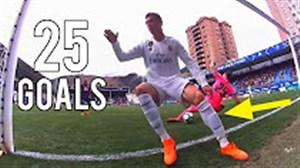 تمام 25 گل کریستیانو رونالدو در فصل 18-2017 لالیگا