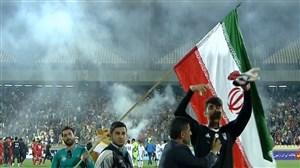 مراسم بدرقه تیم ملی در ورزشگاه آزادی