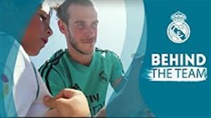 بازدید بازیکنان رئال مادرید از آکادمی این تیم و نوجوانان