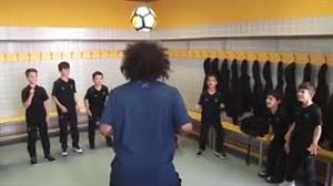 همکاری جالب مارسلو با کودکان فوتبالیست