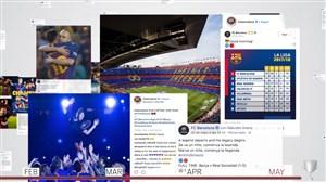 فصل 18-2017 بارسلونا از نگاه شبکه های مجازی