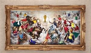 طرح جالب بلیچر از جنگ گلادیاتوری ستاره ها برای کسب جام جهانی
