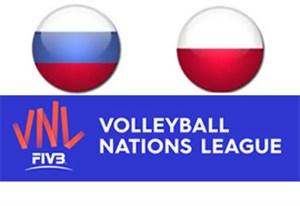 خلاصه والیبال لهستان 3 - روسیه 0 (لیگ ملتها)