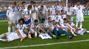 جشن قهرمانی رئالمادرید در لیگ قهرمانان 2017/18