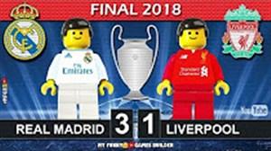 شبیه سازی دیدار رئال مادرید - لیورپول با لگو