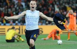 اینیستا: پیش از گلزنی در فینال جام جهانی افسرده بودم