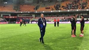 حال و هوای استادیوم فاتح تریم پیش از بازی ایران - ترکیه