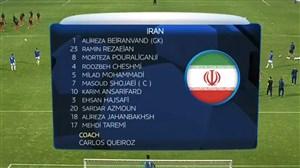 ترکیب و گرم کردن بازیکنان ایران پیش از بازی با ترکیه