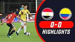 خلاصه بازی مصر 0 - کلمبیا 0