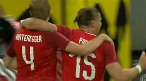 گل اول اتریش به آلمان (مارتین هینترگر)