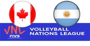 خلاصه والیبال آرژانتین 1 - کانادا 3 (لیگ ملتها)