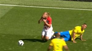 خطاهای فراوان و خشن در نیمه اول بازی دوستانه برزیل -کرواسی