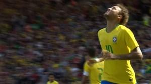 گل اول برزیل به کرواسی روی حرکت دیدنی نیمار